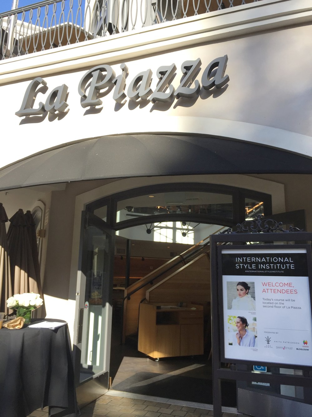 Location for Day 1 of the event: La Piazza @ The Grove