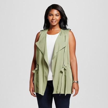 Women's Plus Size Utility Vest - Ava & Viv ™