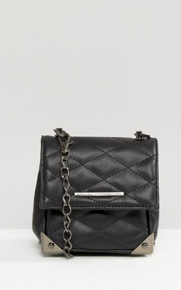 French Connection Quilted Cross Body Bag