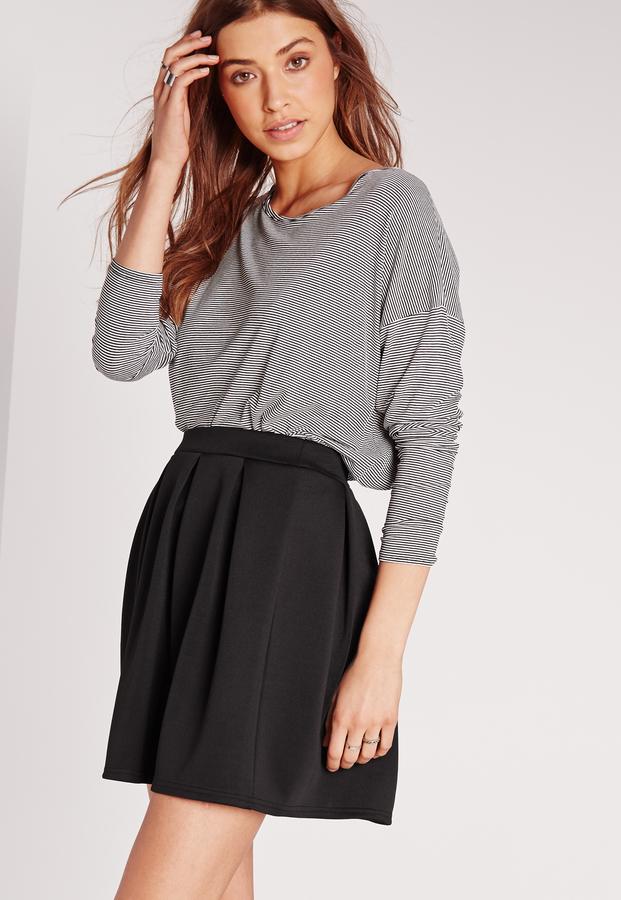 Scuba Skater Skirt Black