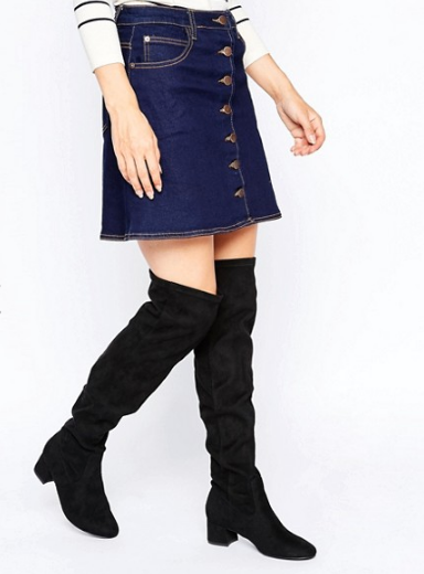 New Look Faux Suede Over The Knee Boot