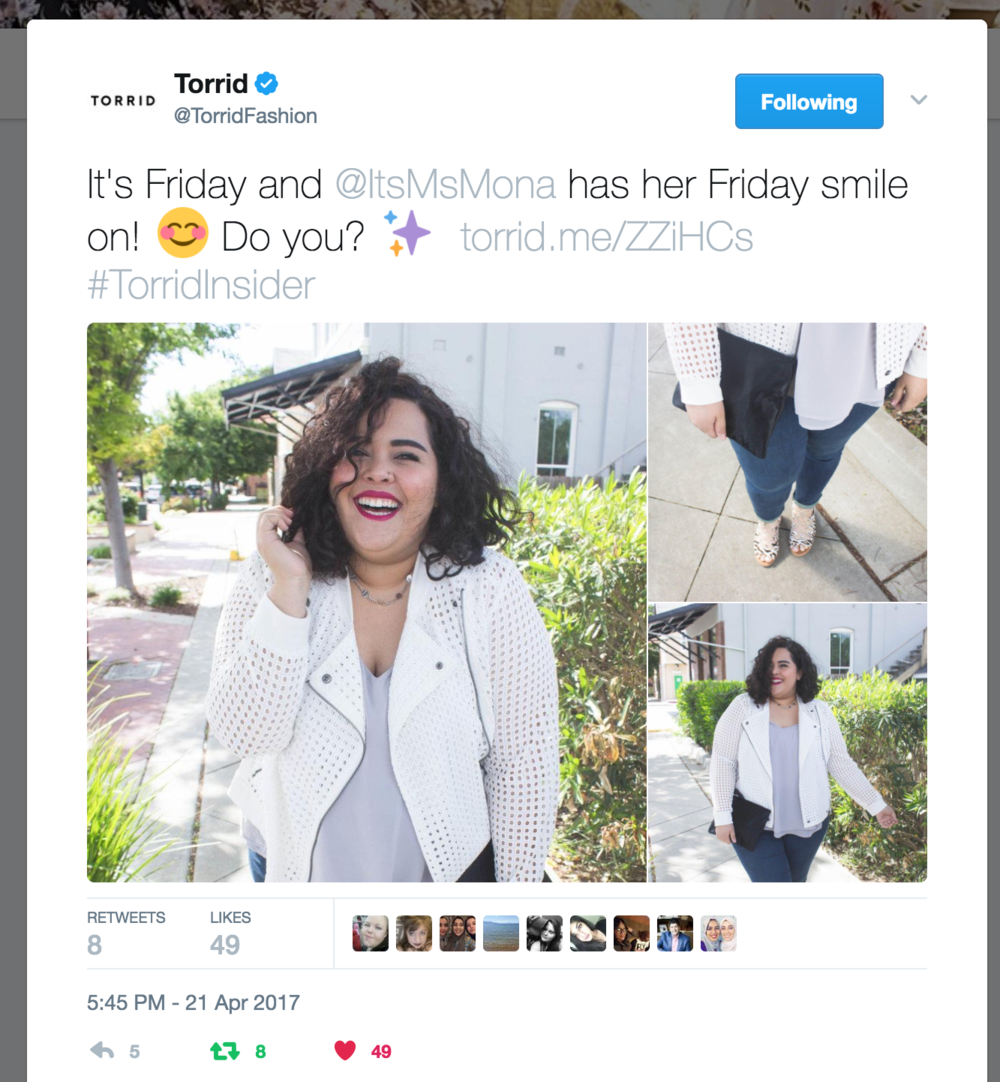 Torrid Collab - Twitter Feature