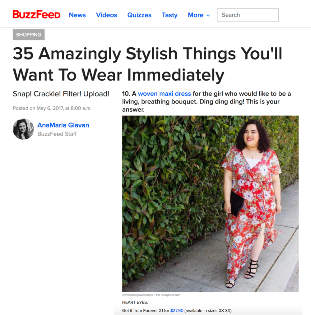 Buzzfeed - Article Feature