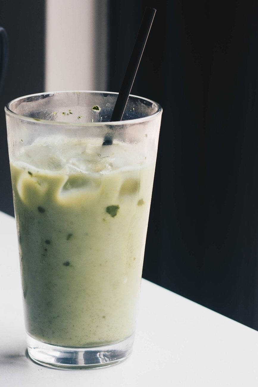 Iced Matcha Almond Milk Latte  If you're a fan of almond milk, you will love this. It's not too sweet, just right.