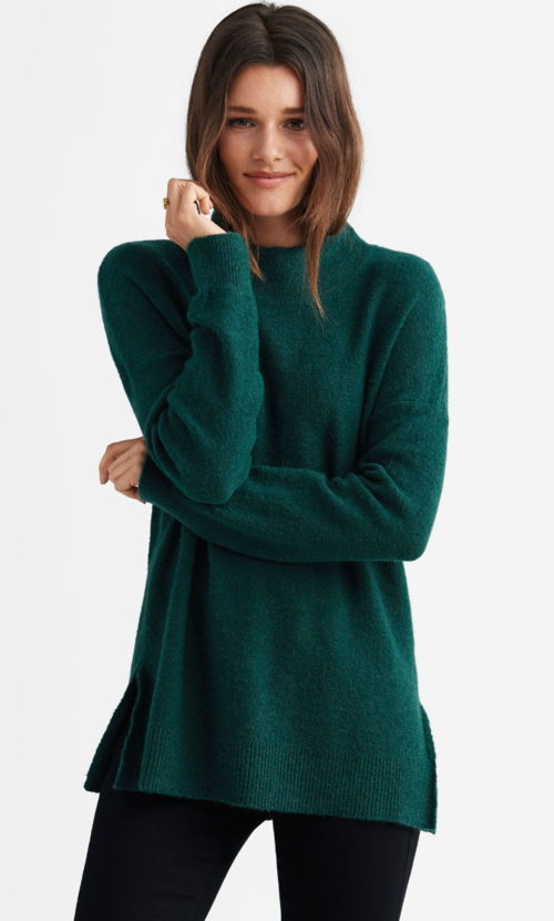 Mockneck Tunic Sweater - $46.90
