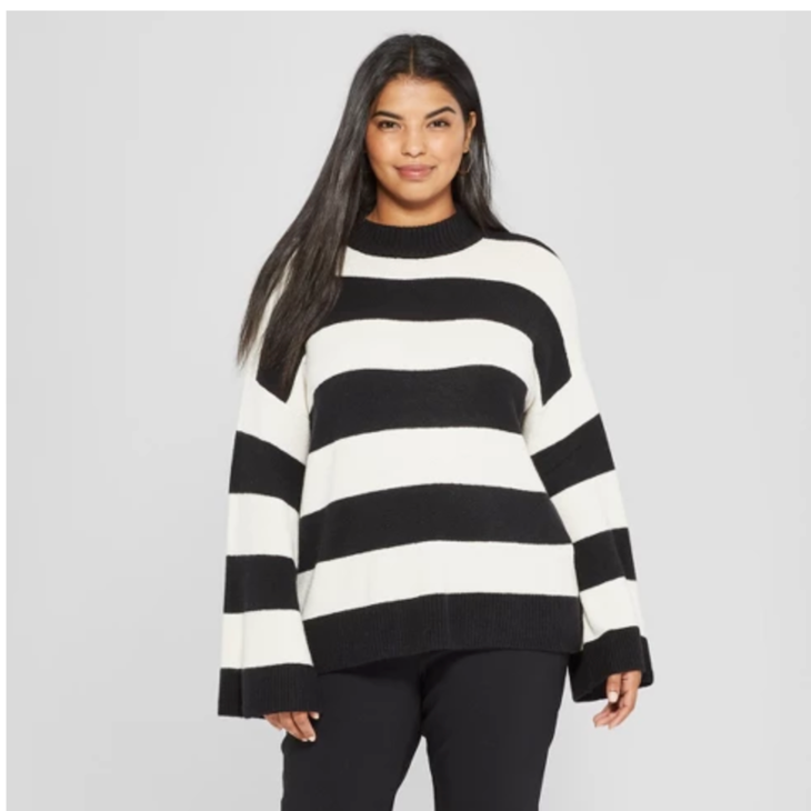 product description page Women's Plus Size Long Wide Sleeve Pullover Sweater - Who What Wear™ - $34.99