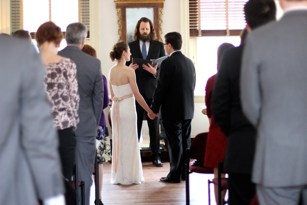Emily marrying Ryan, March 2016.