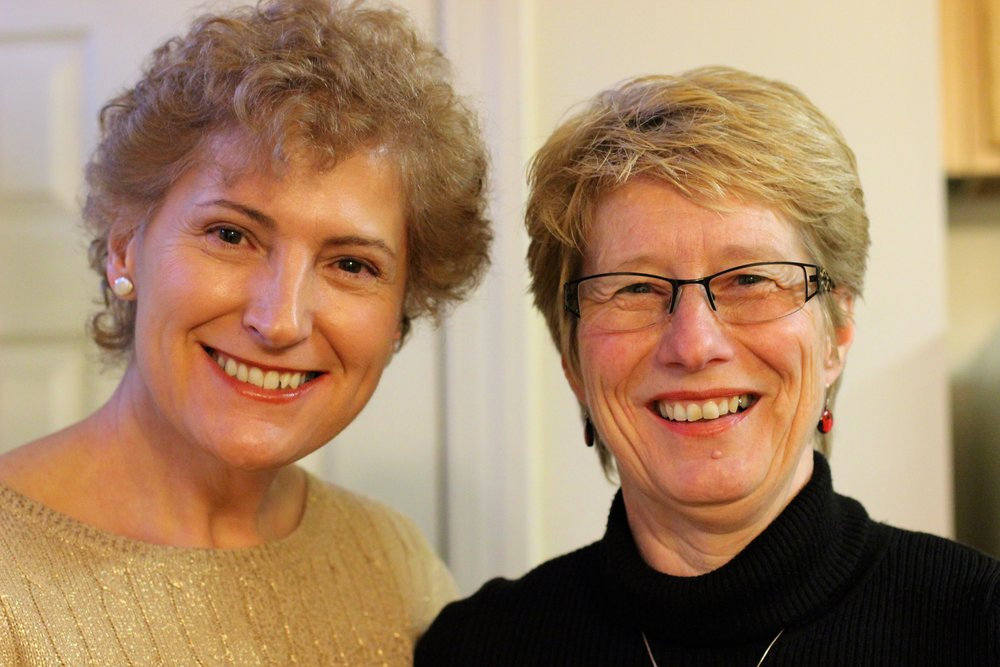 Visiting scholars Ketty and Sue at Patricia's house for a celebratory dinner, March 2015.