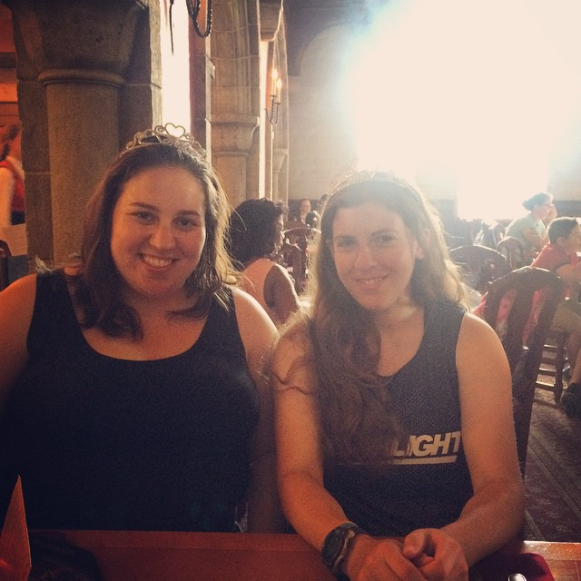 Lauren and Sophie being princesses at Disney World, August 2015.