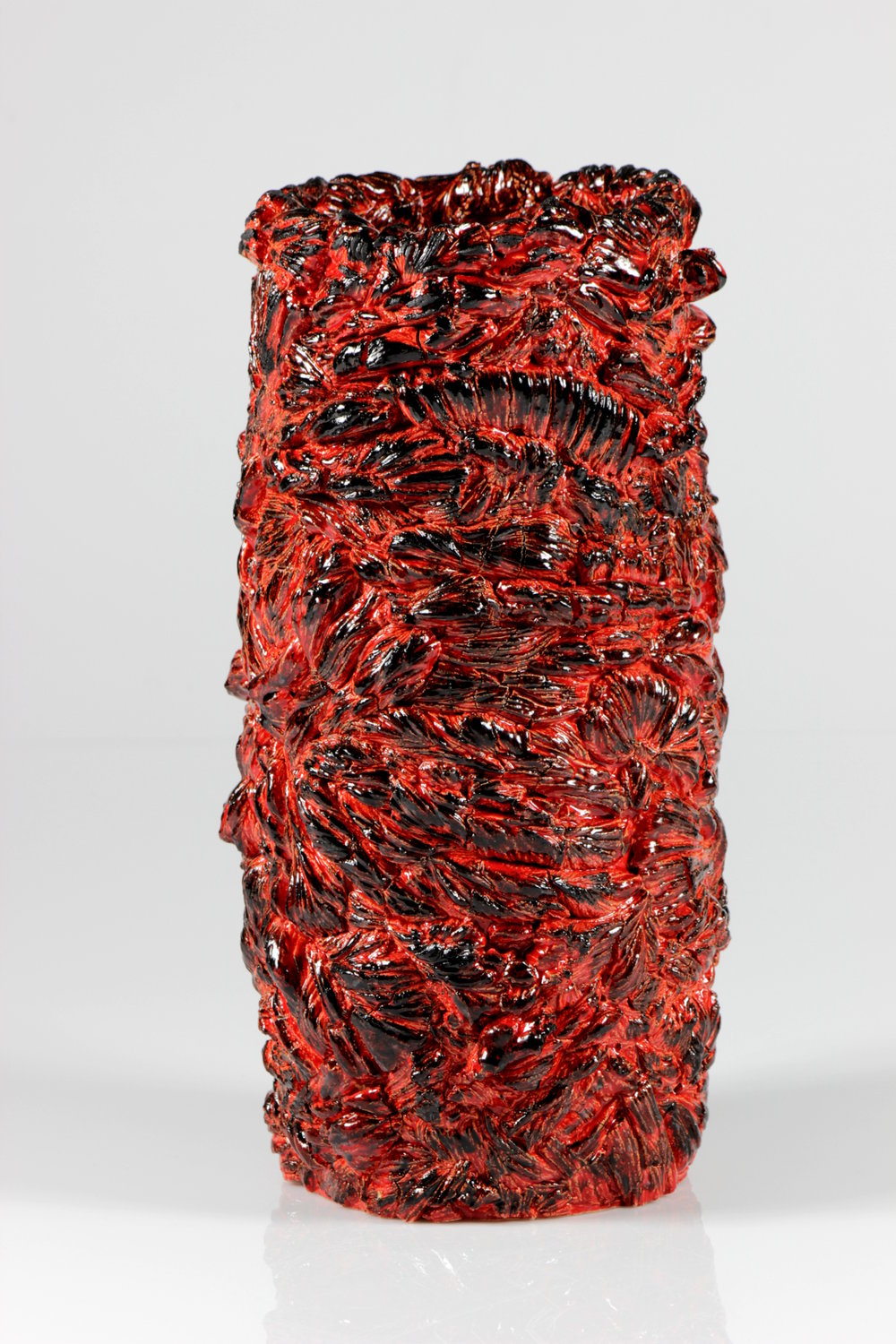 "Lava Fields  ,  2015, Ceramic, Low Fire, 12.5"" H x 6"" W x 6"" D"