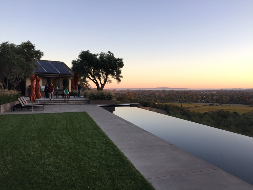 celebrating a wonderful sunset at a Sonoma mountain retreat