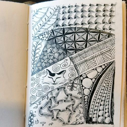A recent drawing (Zentangle Inspired Art)