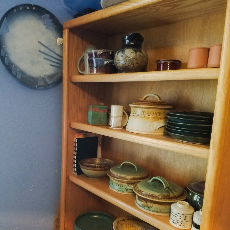 Shelf of Ceramics