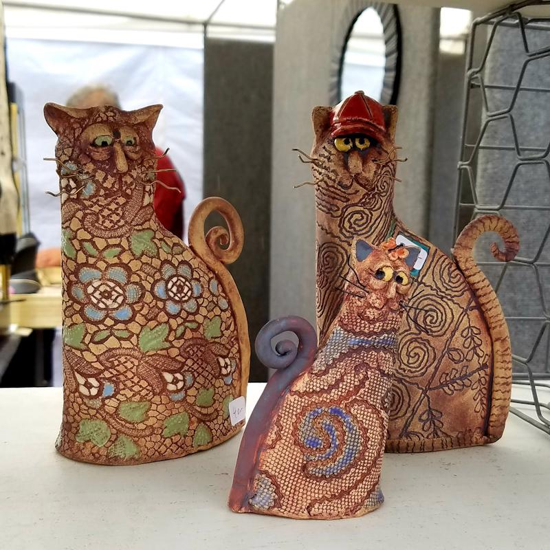 Ceramic Punk Cats