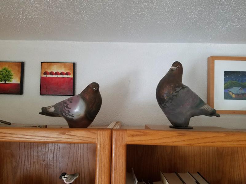 Raku Pigeons