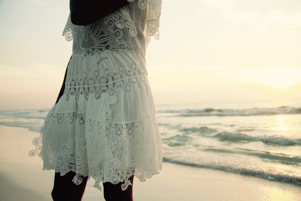 Tulum sunrise. Dress by Chloé