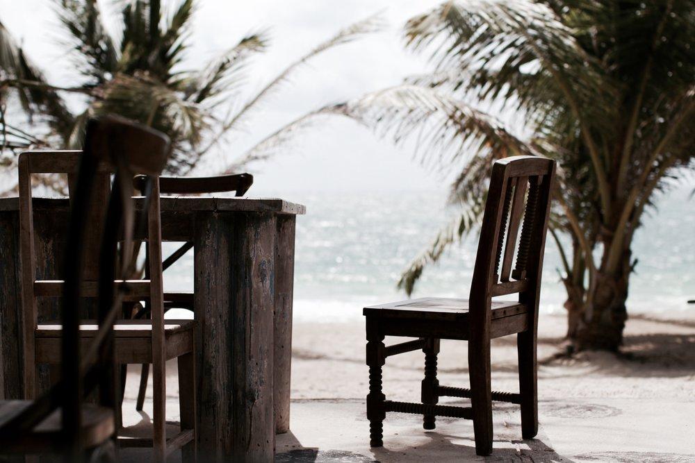 Breakfast on the beach at Casa Malca Tulum