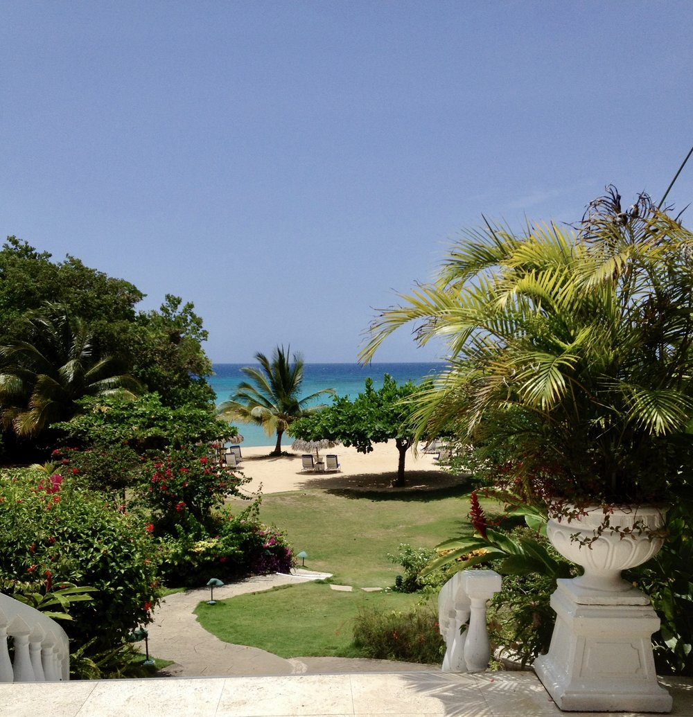 view of beach from entrance at Jamaica inn