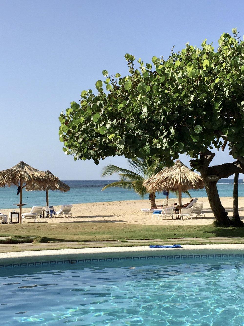 guests on beach at Jamaica Inn