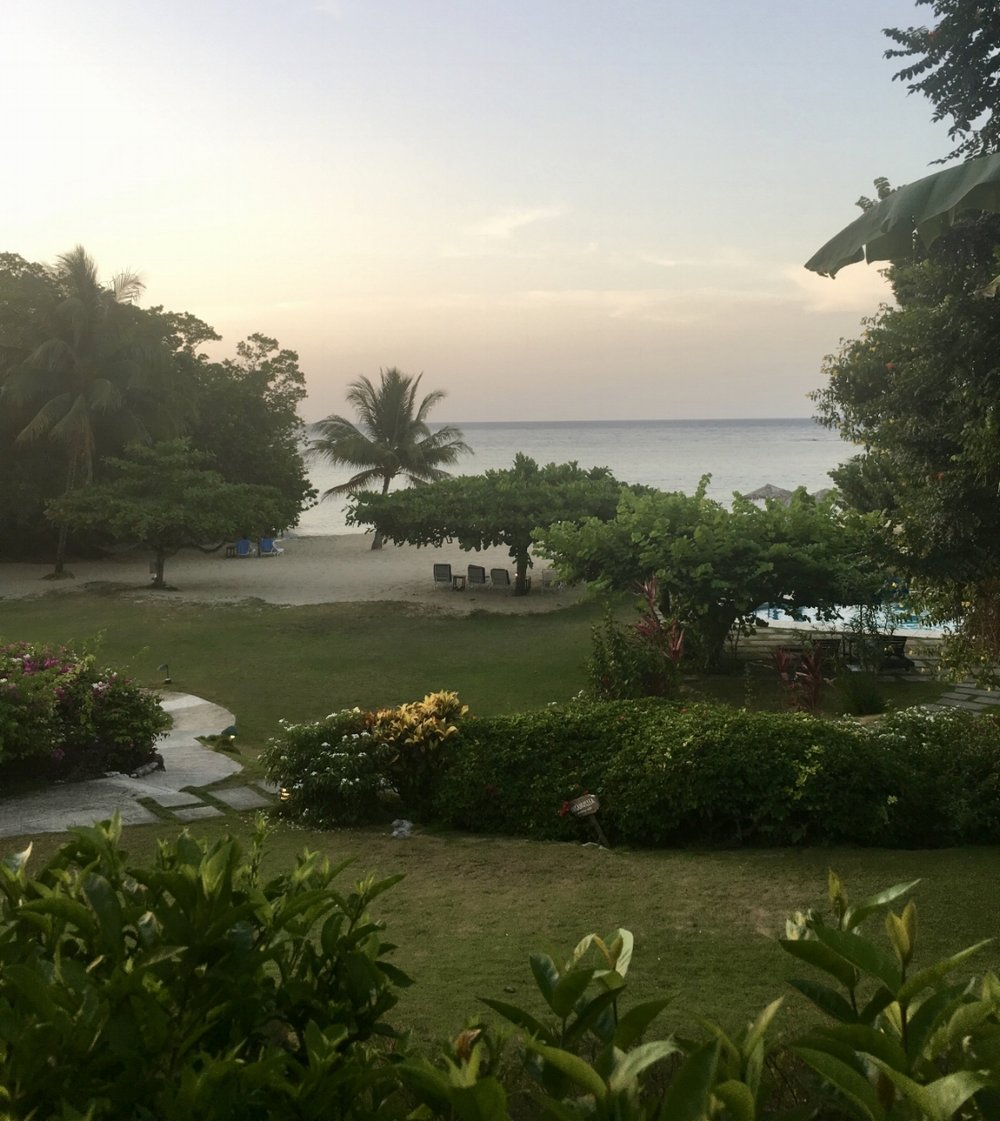 View of beach from Reception at Jamaica Inn