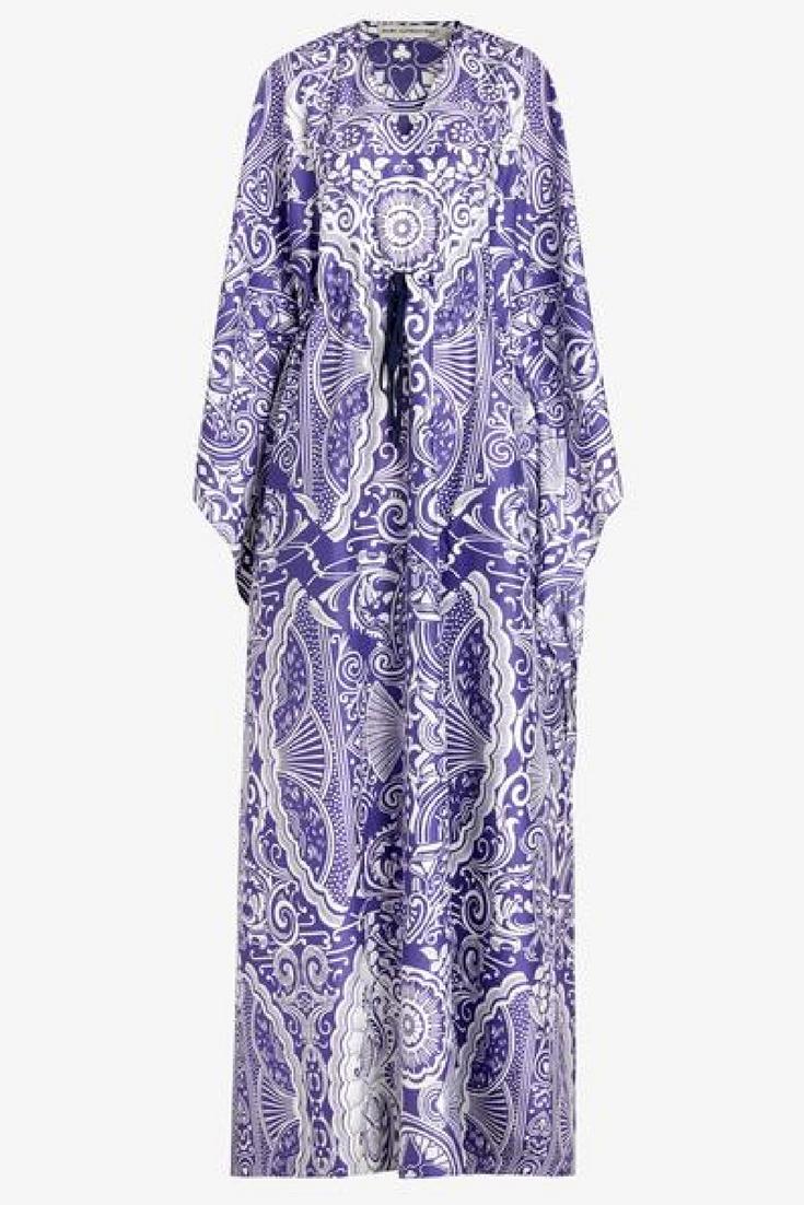 Mary Katrantzou Printed Cotton and Silk-Blend Kaftan