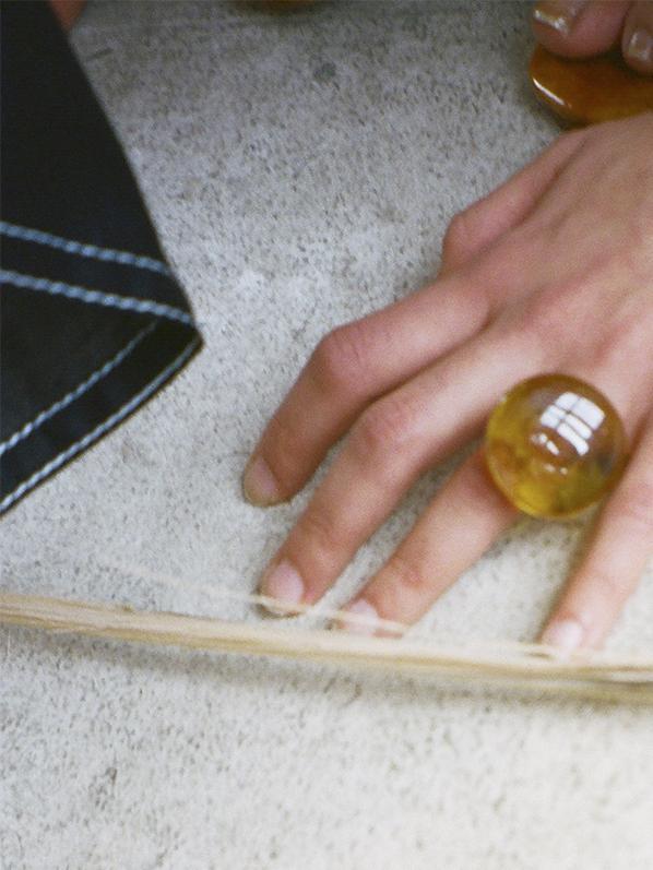 Maryam Nasir Zadeh Large Circle Ring, Gold