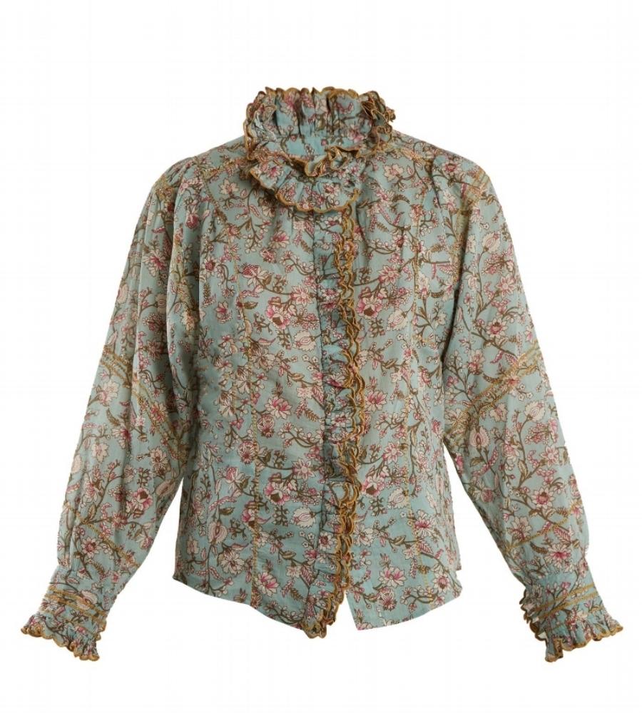 Isabel Marant Étoile Mauryn Floral-Print Ruffle-Trimmed Cotton Shirt