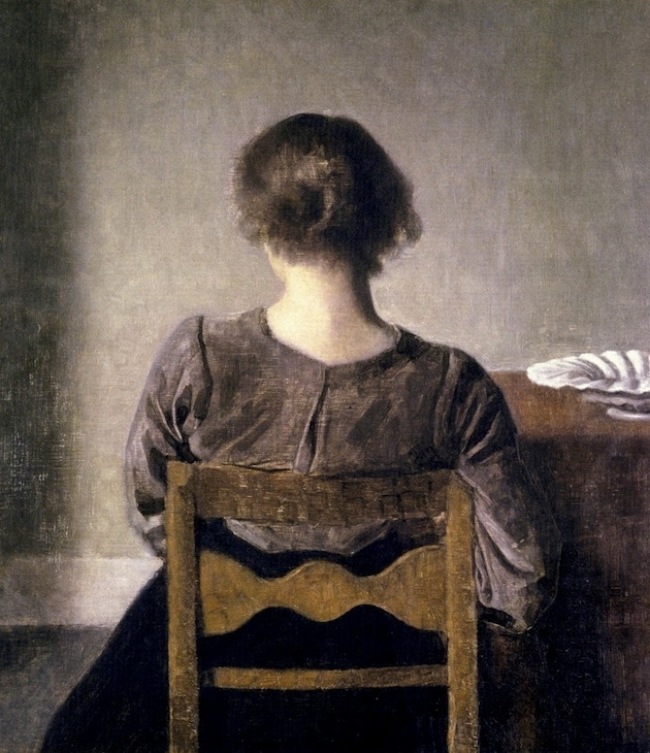 Vilhelm Hammershøi Rest [Hvile] 1905