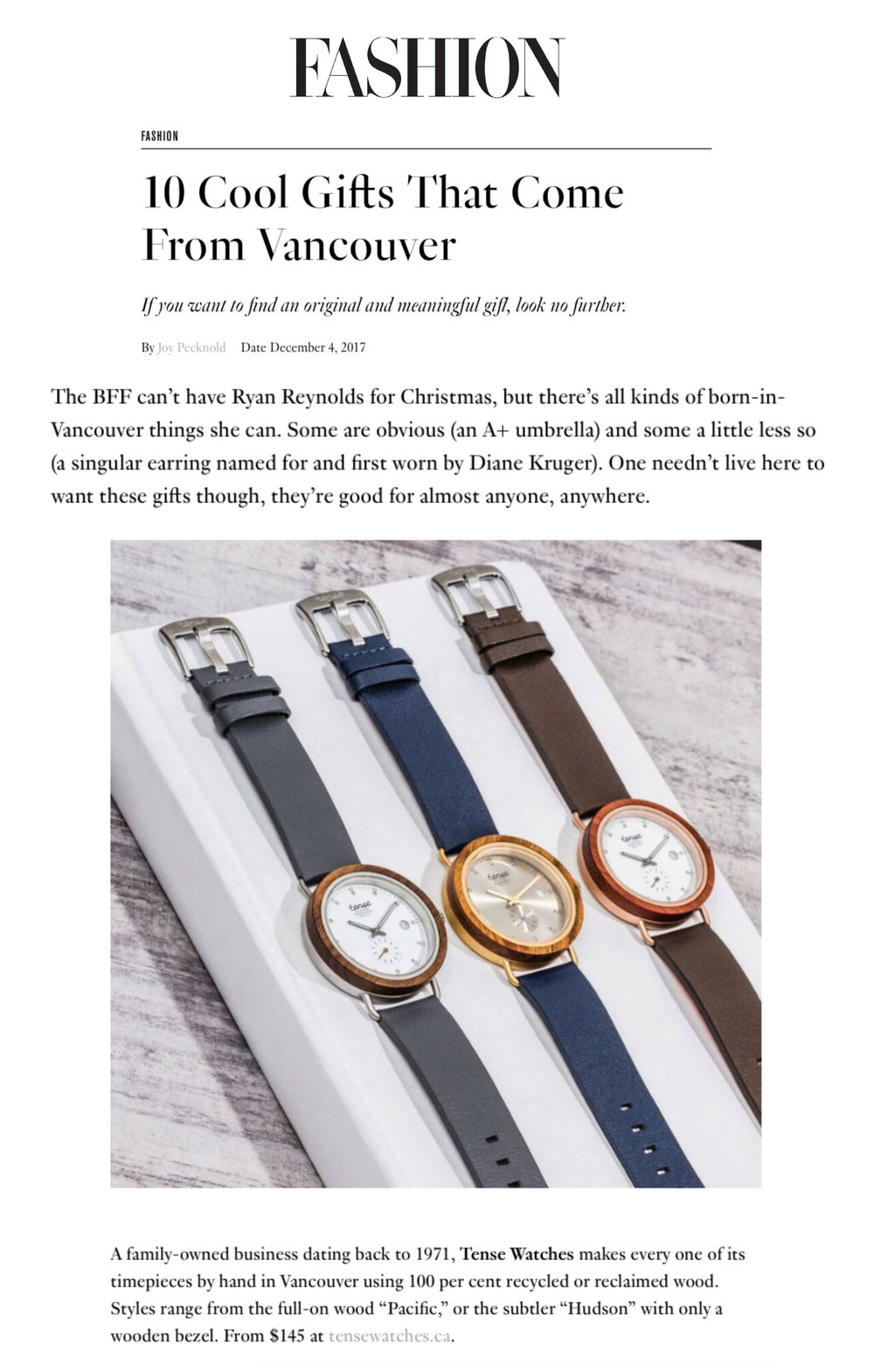 Tense Watches - Fashion Magazine