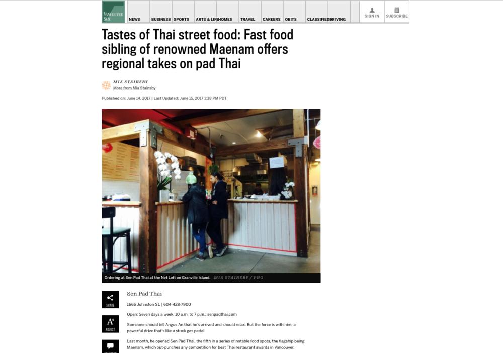 Sen Pad Thai - Vancouver Sun