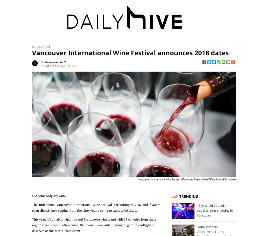 Vancouver International Wine Festival - Daily Hive Vancouver