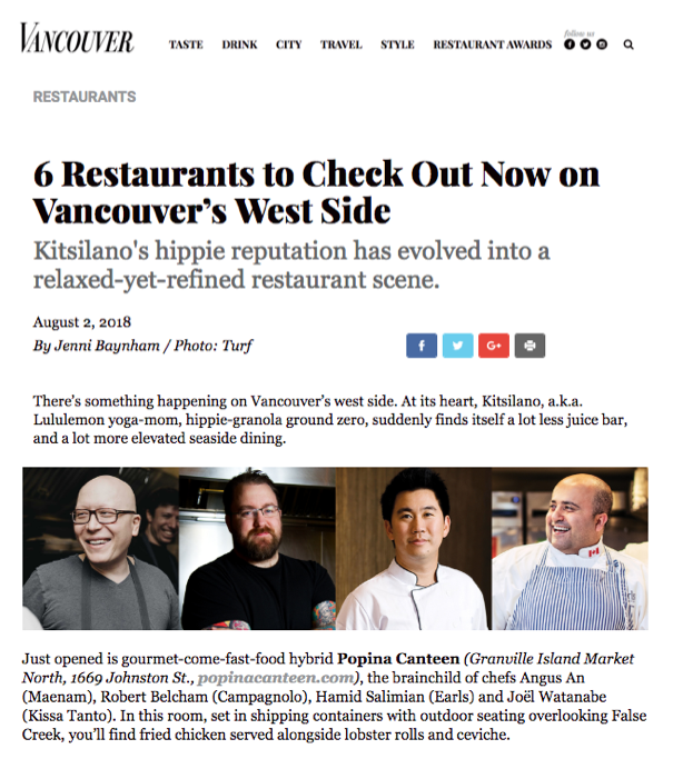 Popina - Vancouver Magazine