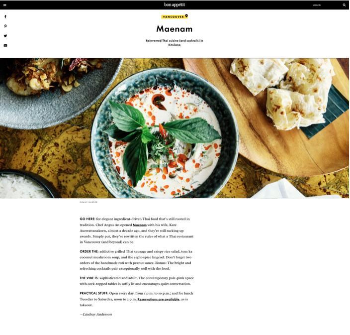 Maenam - Bon Appetit