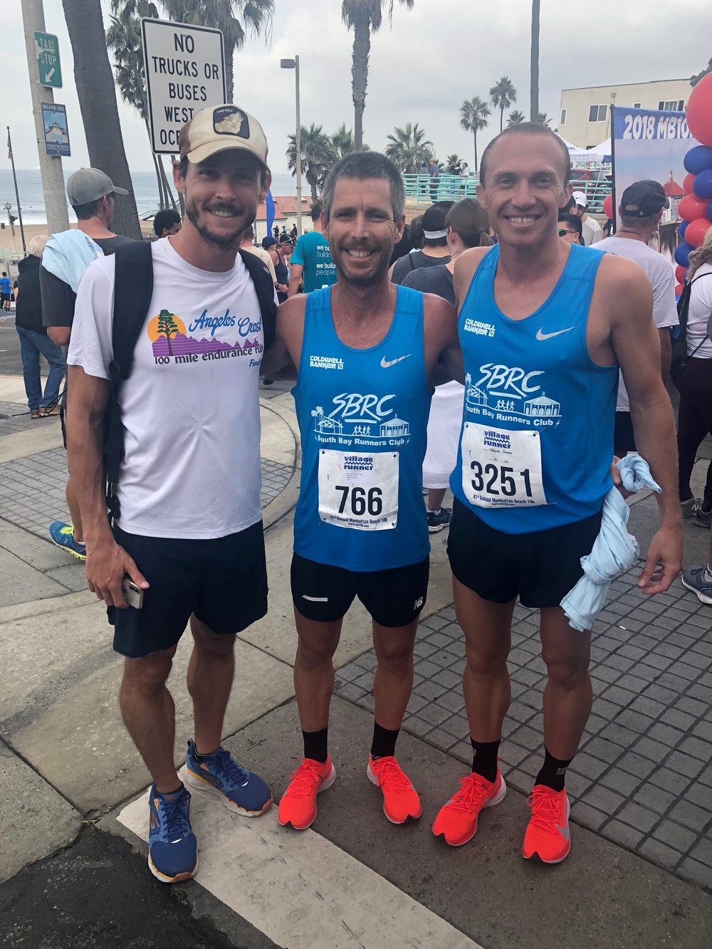 Manhattan Beach 10k w/ Gavin Wolfe and Sean Goodsell (finished the 10k in 37:28)