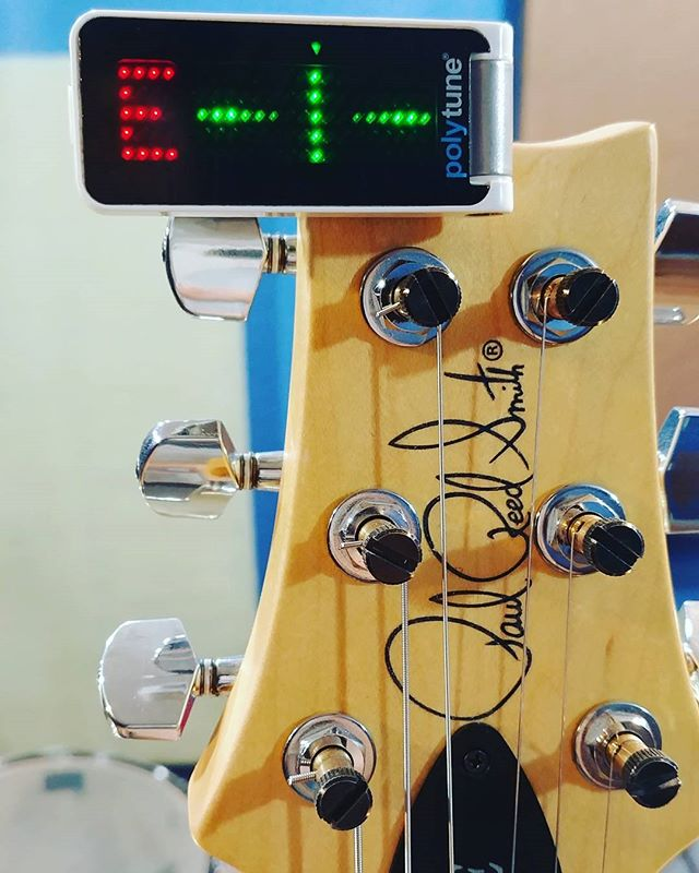 A great tune, starts with being in tune! @prsguitars @tcelectronic #studio #guitar #prs #polytune #ce24 #paulreedsmith #band #engineer #protips