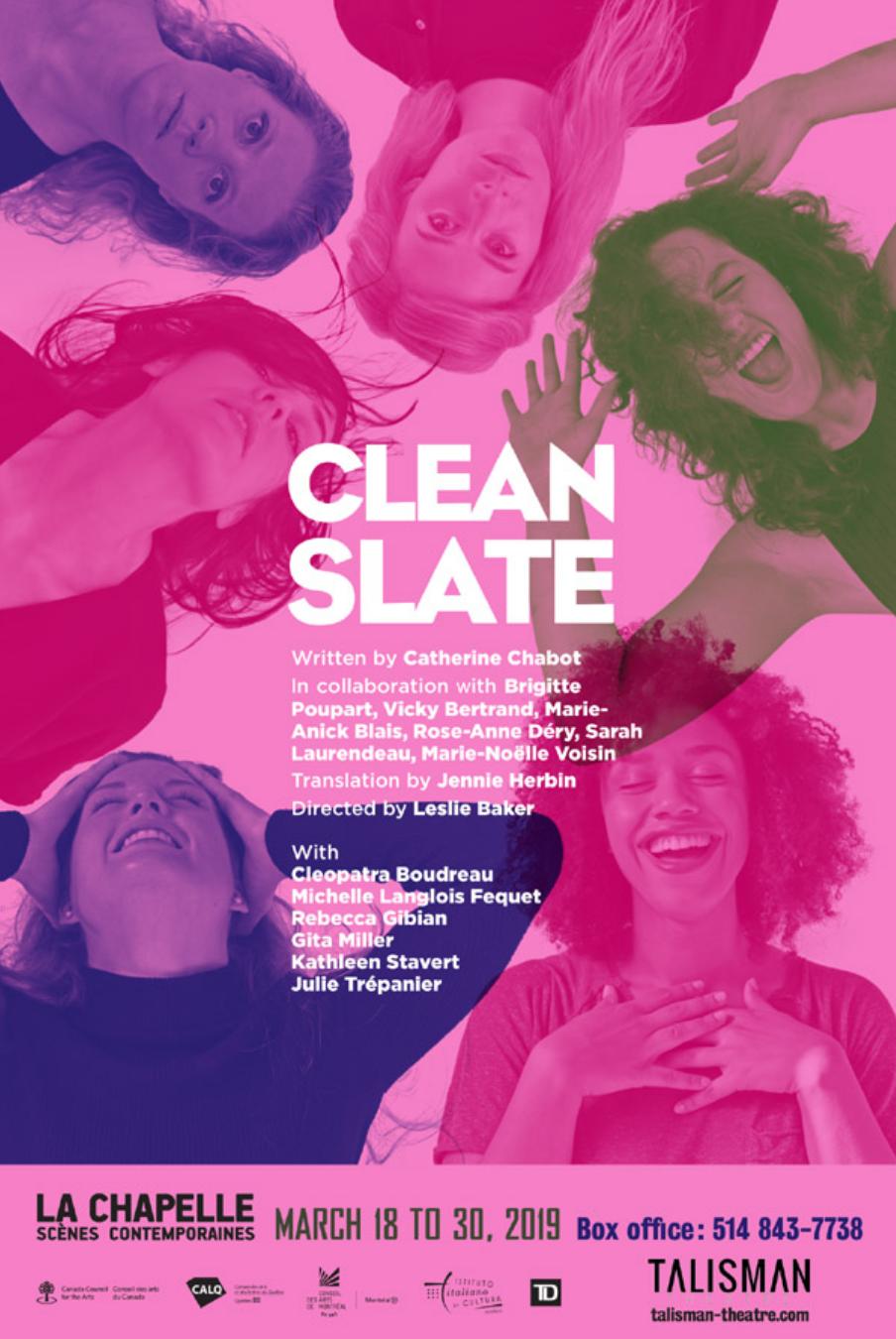 Clean Slate ( Talisman Theatre)  / Costume Design
