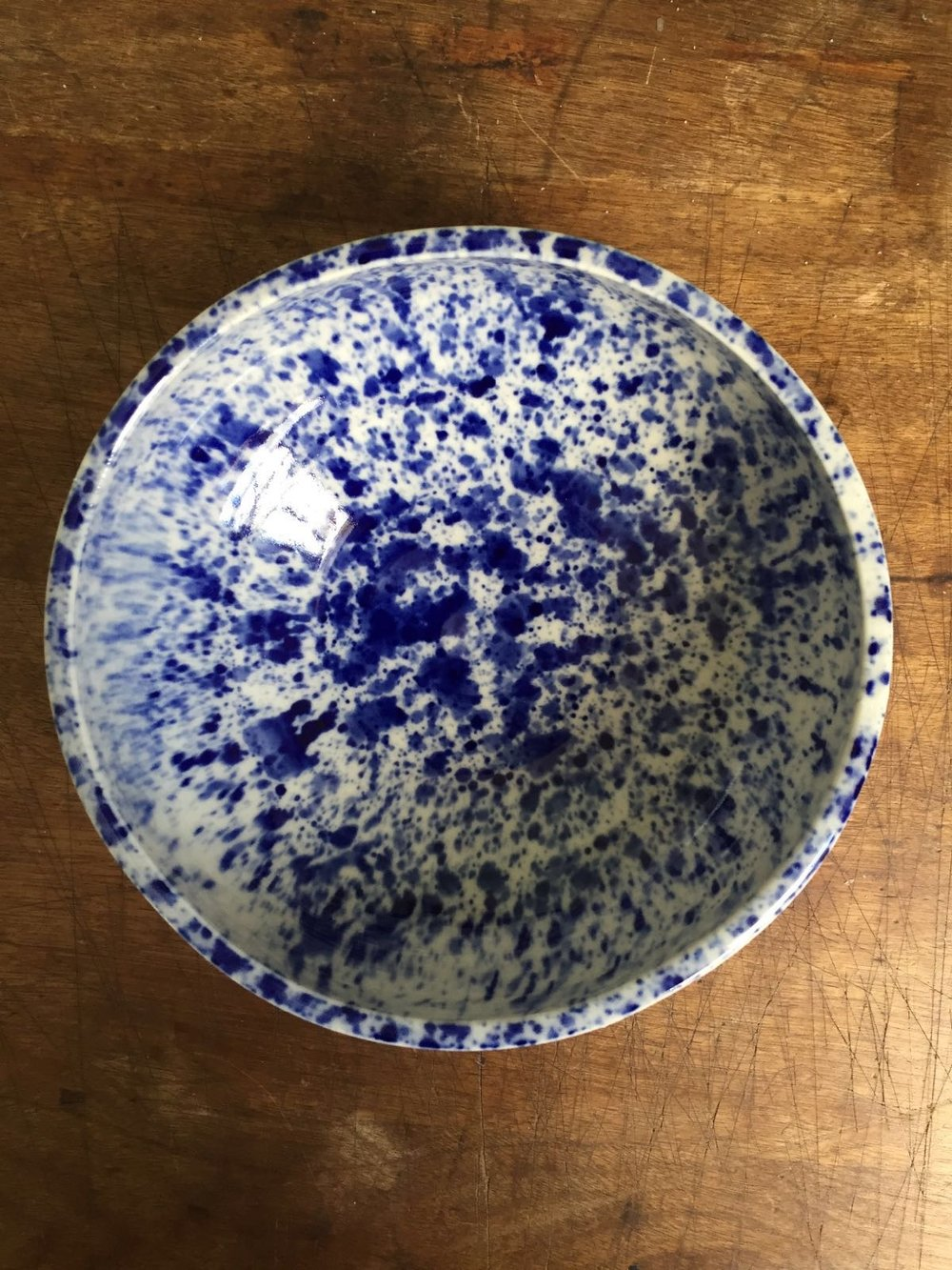 speckled bowl indigo
