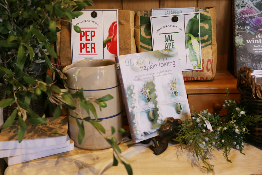 Gift Cookbooks and Gardening Books at Wildflowers at the Lake