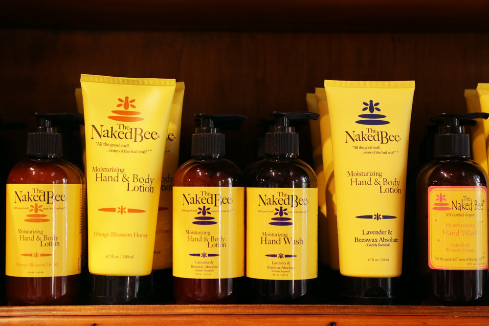 The Naked Bee body care at Wildflowers at the Lake
