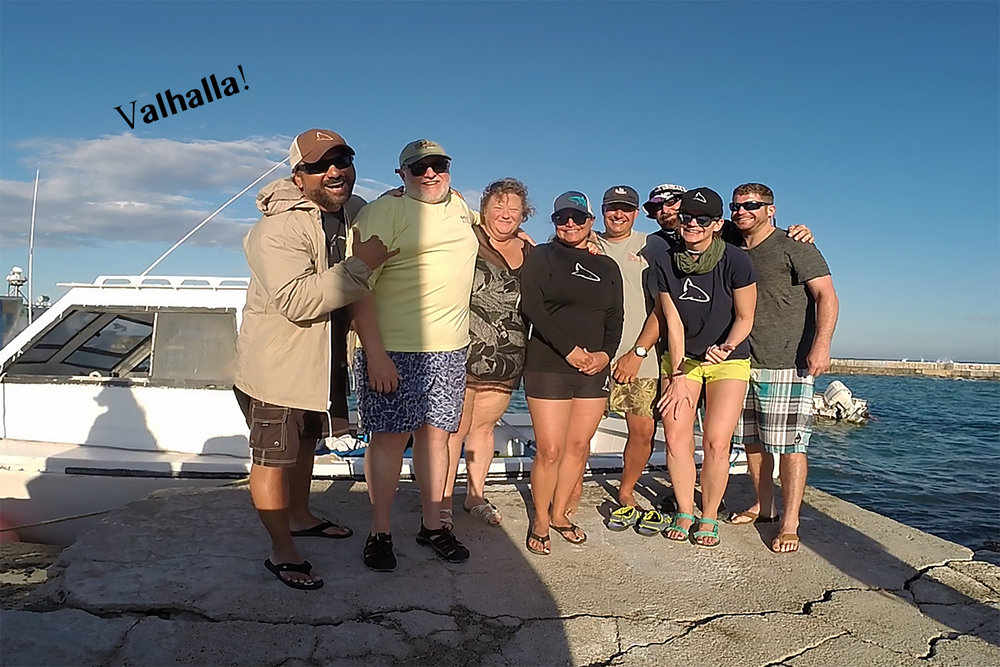 No words can express my love for this group of crazy divers. They have traveled with us throughout the years. We have shared so many adventures together. Thank you guys for the years of fun, love and kick ass adventures. Looking forward to many more.
