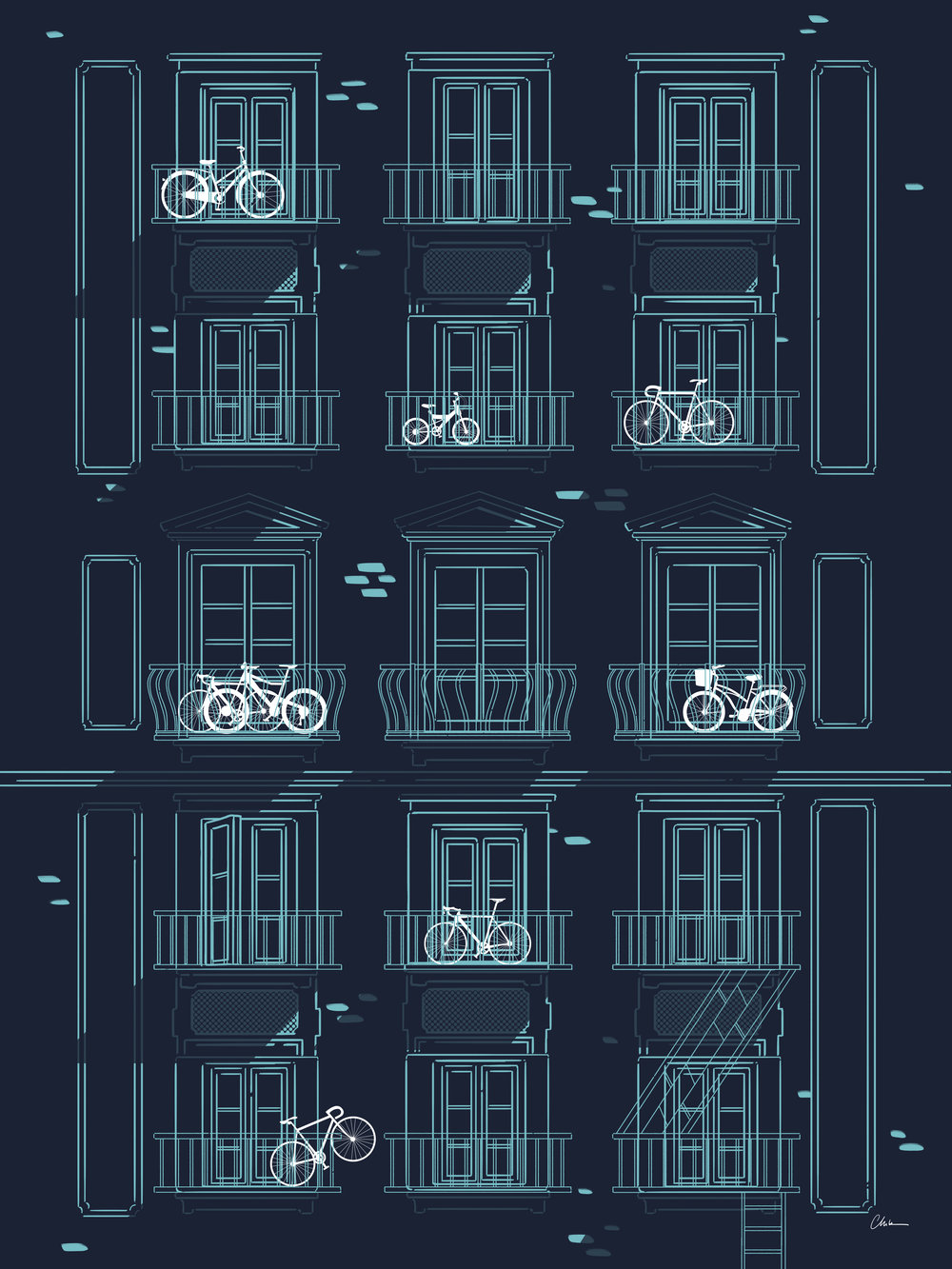 Art Crank | Bikes on Balconies