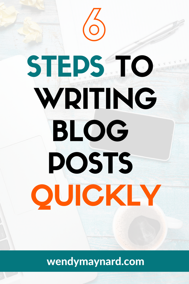 How to quickly write blog posts