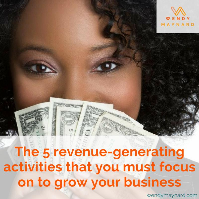 5 revenue generating activities to grow your business