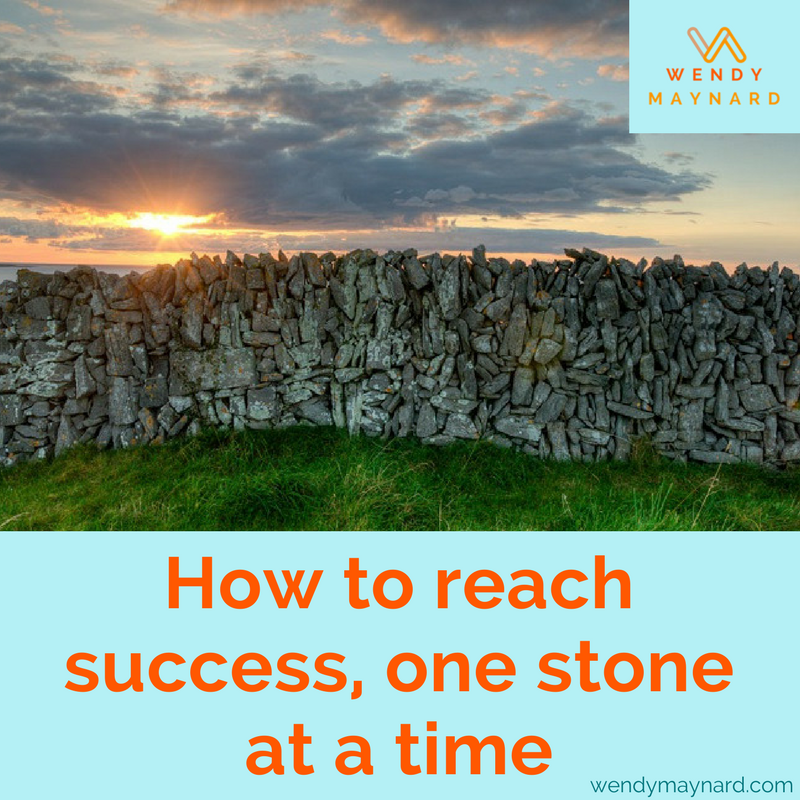 When you look at other entrepreneurs and businesses, you probably see HUGE amounts of work that led to their success. They have blogs and email funnels and sales pages and fully-fleshed-out service lines and programs. Just remember, everyone gets there one stone at a time.