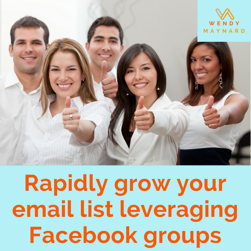 How to quickly build your email list leveraging Facebook groups for business.