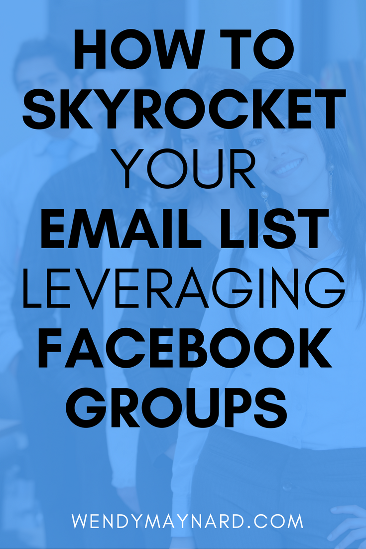 The number one most important thing that every business owner should be doing is building an email list. And, an incredibly powerful way to build your list is through leveraging Facebook groups. They were so effective for me that I increased my list by more than 1,500 in 60 days (that's an average of 25 per day!). And I continue to grow it using these same methods! Pin this for later.