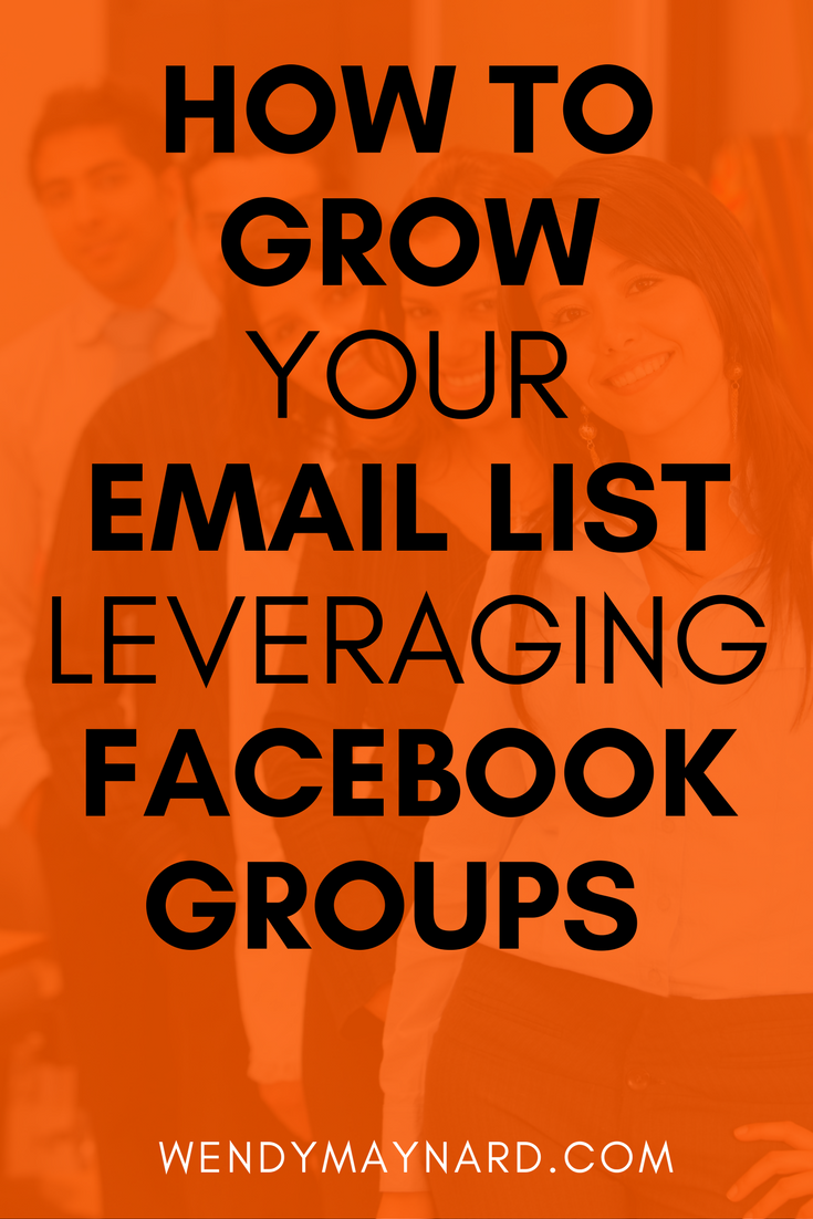 How to rapidly grow your email list by leveraging Facebook groups.