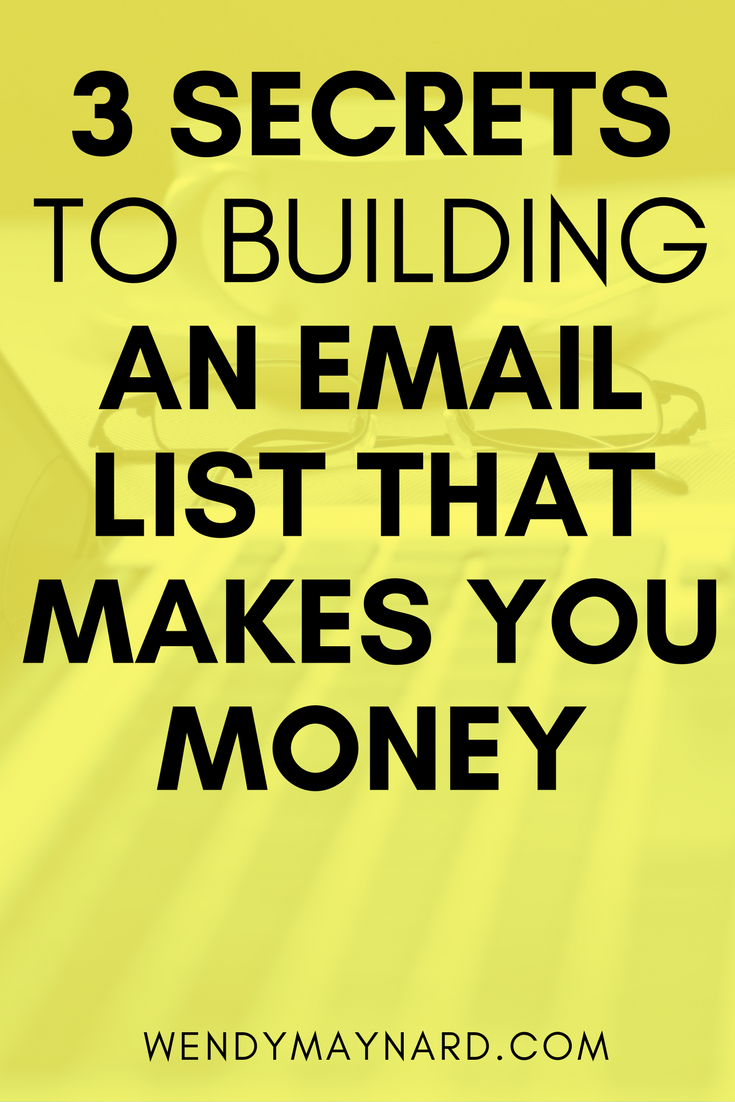 Here are 3 secrets to building an email list that will fill your client roster and sell out your programs