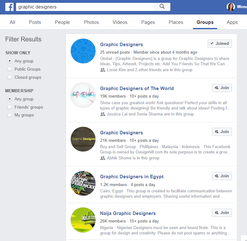fb group search.PNGHow to search for Facebook groups to join for business