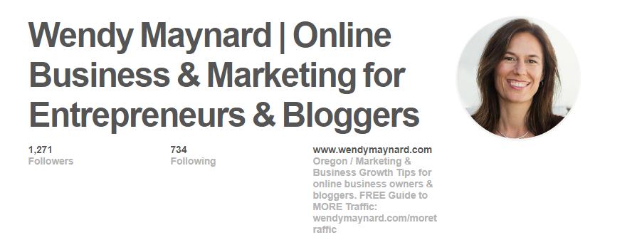 Wendy Maynard Pinterest profile